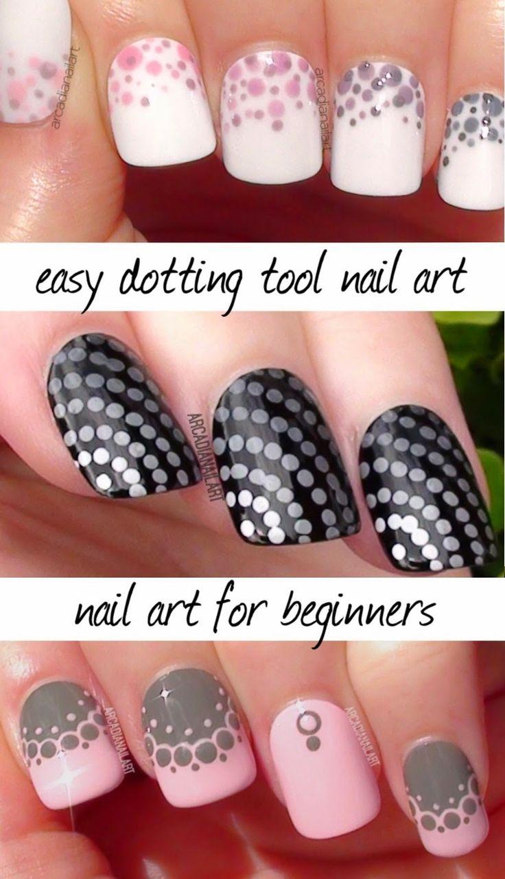 Nail Art For Beginners, Easy Dotting Tool Tutorial                              …