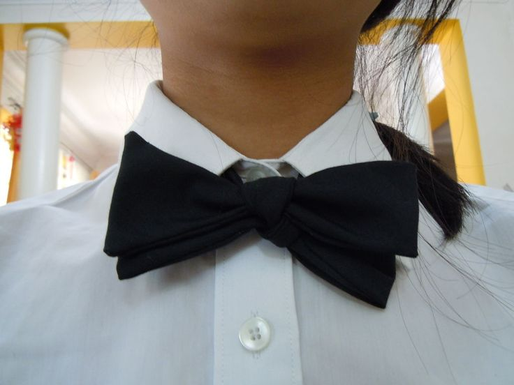 how to make a self-tie bow tie