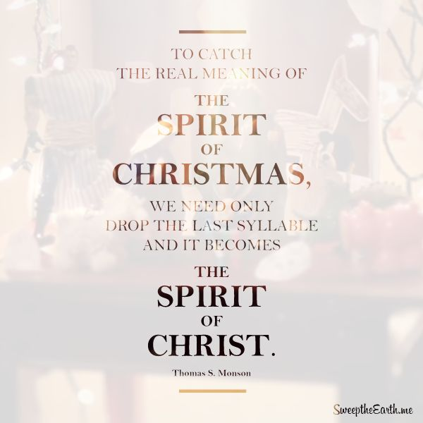 to catch the real meaning of the spirit of christmas we need only drop