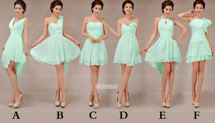 mint bridesmaid dresses cheap bridesmaid dress short by okbridal, $99.99