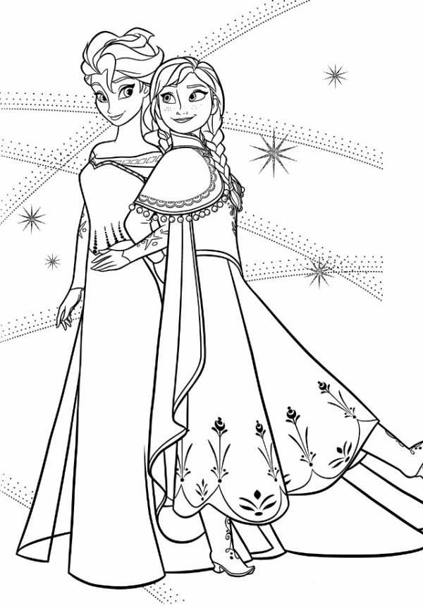 アナと雪の女王(FROZEN)ぬりえ・1 - ミツキ・MA・ウスの小さな世界