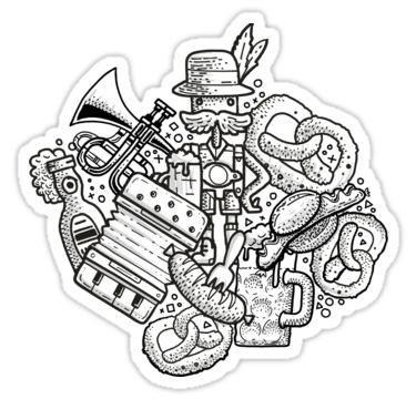 Dieses Stickermotiv heißt Bavarian Madness - ob da wohl was dran ist? Mehr Sticker findest du im Shop bei Redbubble!