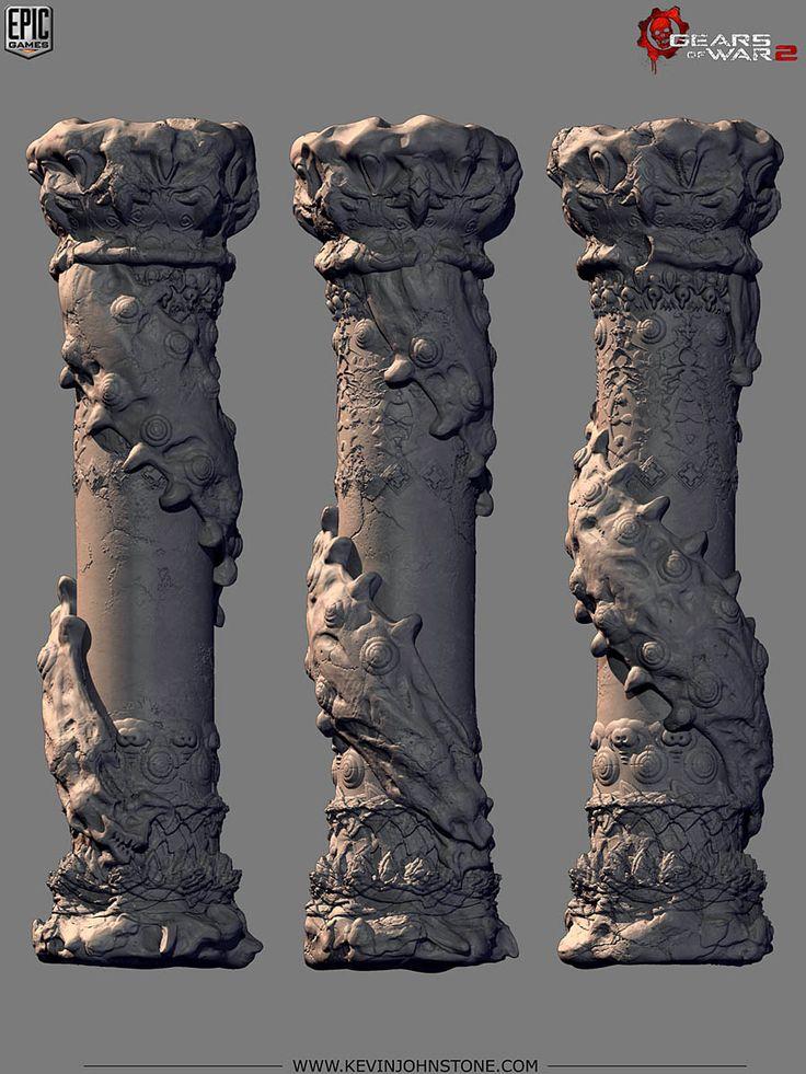 Gears of War 2 - Locust Palace WormPillar by Kevin Johnstone
