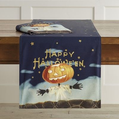 Vintage Halloween Runner #williamssonoma