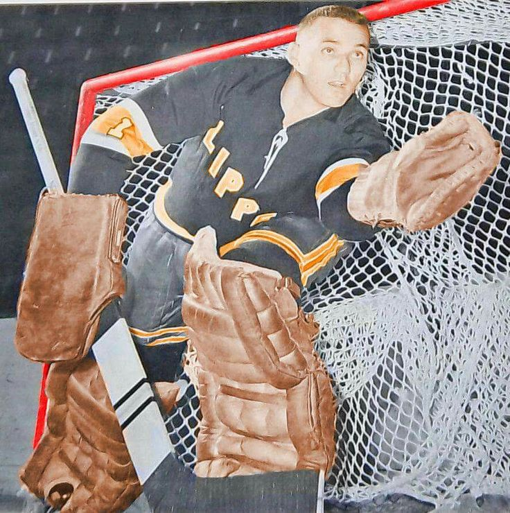Jacques Plante with Baltimore Clippers