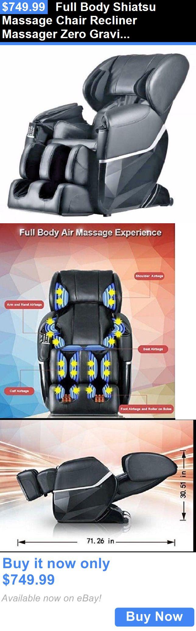 Massagers: Full Body Shiatsu Massage Chair Recliner Massager Zero Gravity Heat Foot Roller BUY IT NOW ONLY: $749.99