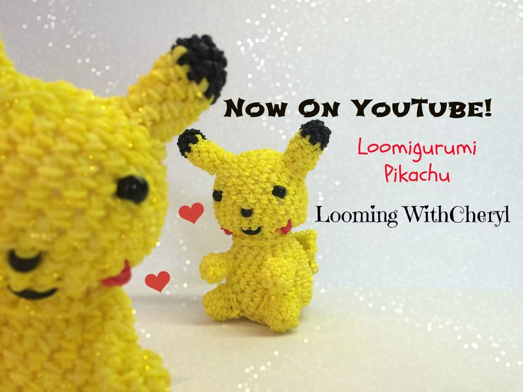 Rainbow Loom PIKACHU - Looming WithCheryl Rainbow Loom SQUIRTLE - Loomigurumi - Looming WithCheryl ( Looming With Cheryl ) Loomigurumi Tutorial is Now on YouTube! Charms / figures / gomitas / gomas / animals / Pokemon inspired. With your loom or crochet with your hook only / Amigurumi. Please Subscribe ❤️❤ m.youtube.com/user/LoomingWithCheryl