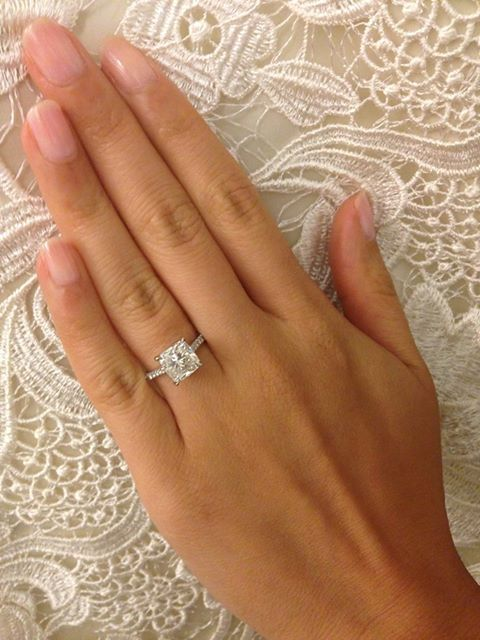 gorgeous square cut Engagement rings