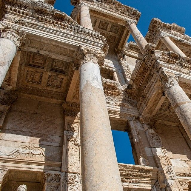 The library of Celsius in Ephesus, #Turkey, another marvel of Ancient Rome. Photo courtesy of cmferrante on Instagram.