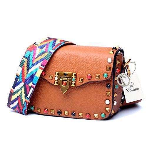 df7ca1959302 Yoome Mini Crossbody Bag Designer Clutch for Women Rivets Bags with ...