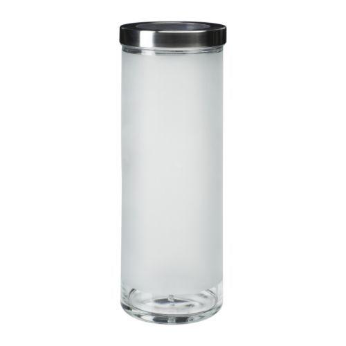 DROPPAR Bocal avec couvercle IKEA Récipient transparent pour trouver facilement ce que vous cherchez.
