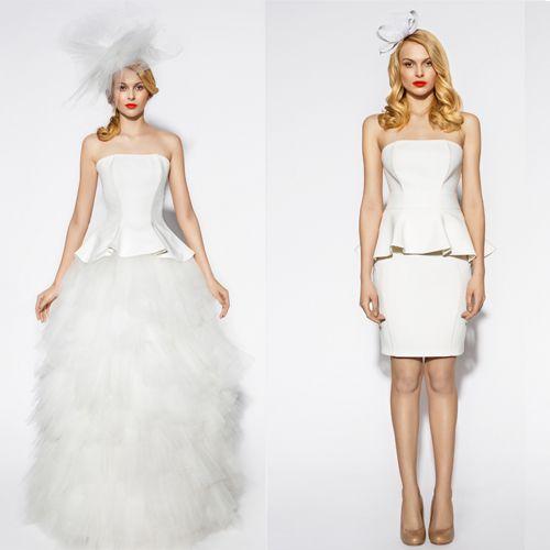 Wedding Dress - long or short? We look forward to your opinions!  /Czy według Was można iść do ślubu w krótkiej sukience, czy raczej tradycyjnie, w długiej? Czekamy na opinie!   http://glamstorm.com/en/wedding/fittingroom/clothes
