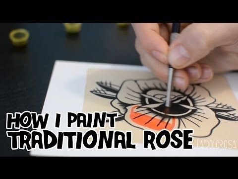 How I paint a Traditional Rose / Pintando una Rosa Tradicional - YouTube