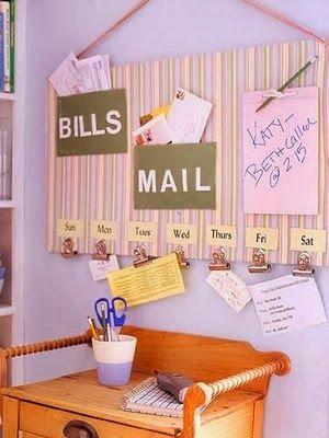 DIY  - organizing board
