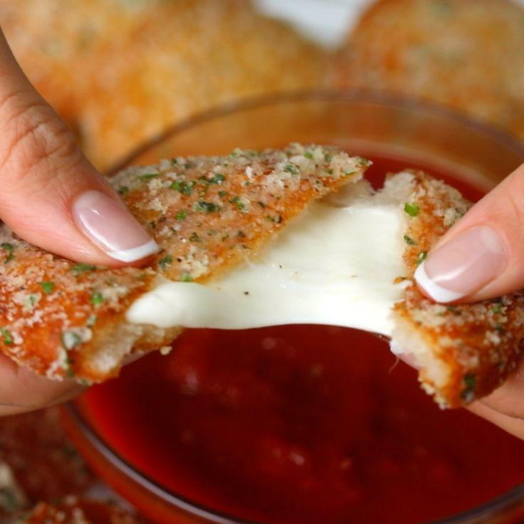 Garlic Bread Mozzarella Ravioli - Twisted