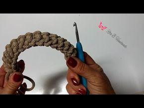 Manici per borsa spighetta rumena tripla o 3D- Crochet - YouTube