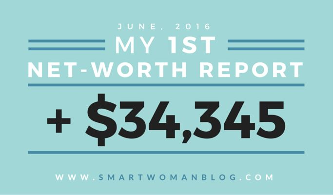 My First Net-Worth Report - June, 2016 // Smart Woman