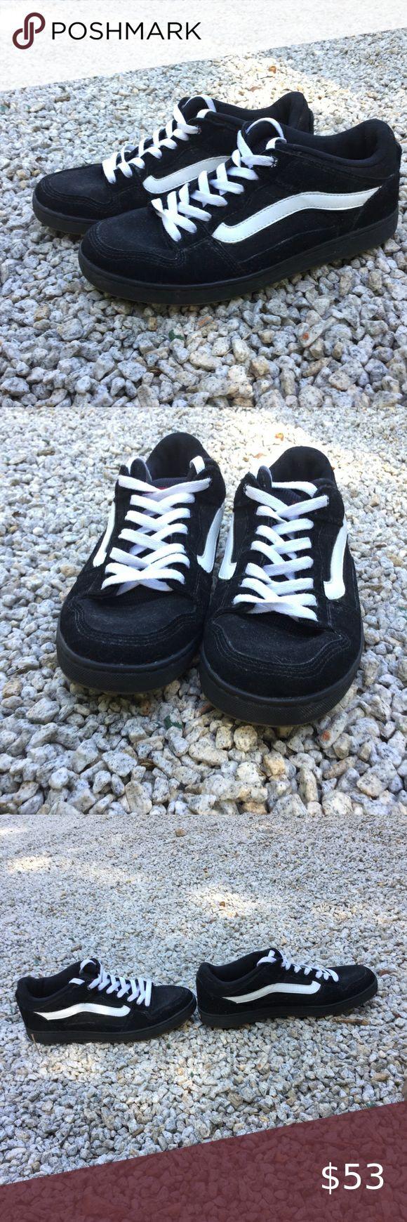 Vans Baxter Skate Shoes Black White Gum Mens Sz 9 | Black shoes ...
