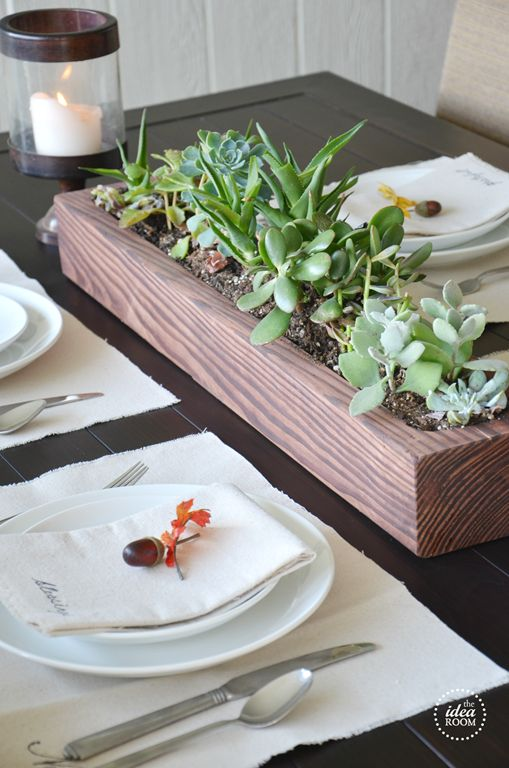Diy wood box the long florals and succulents