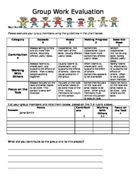 Group And Peer Assessment In Group Work Cooperative Learning