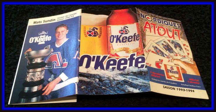 1993-94 QUEBEC NORDIQUES OKEEFE HOCKEY POCKET SCHEDULE EX+NM MATS SUNDIN PICTURE #Pocket #Schedule