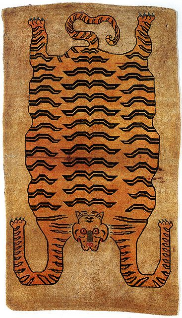 19th-century Tibetan tiger rug, from Giovanni Garcia-Fenech |...