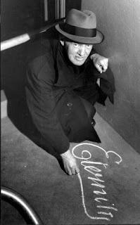 Rare photograph of  Arthur Stace, the Eternity man.