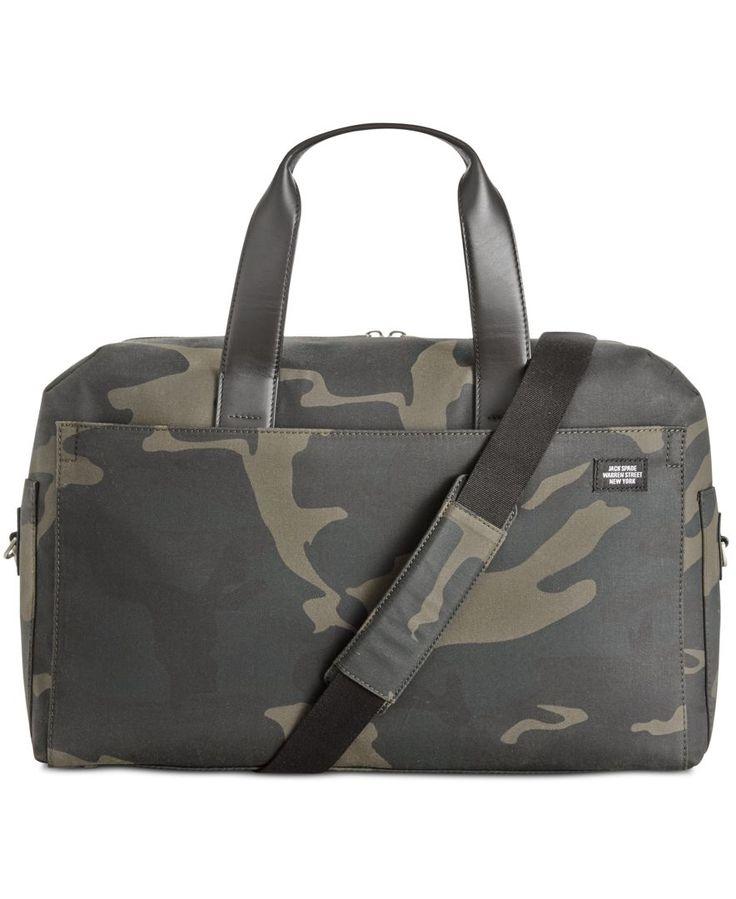 Jack Spade Men's Camo Overnight Bag