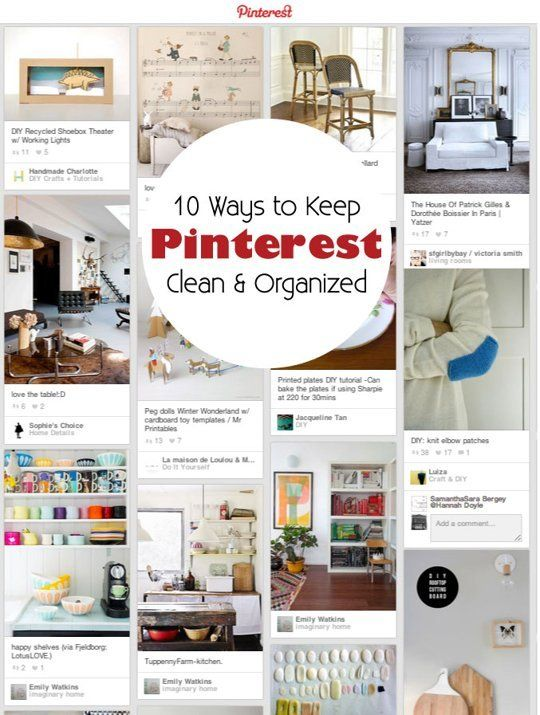 10 Ways to Keep Your Pinterest Boards Clean & OrganizedCleaning Amp, Boards Organic, Pinterest Organic, Apartments Therapy, Organic Pinterest, Pin Pile, Boards Cleaning, Cleaning Organic, Pinterest Boards