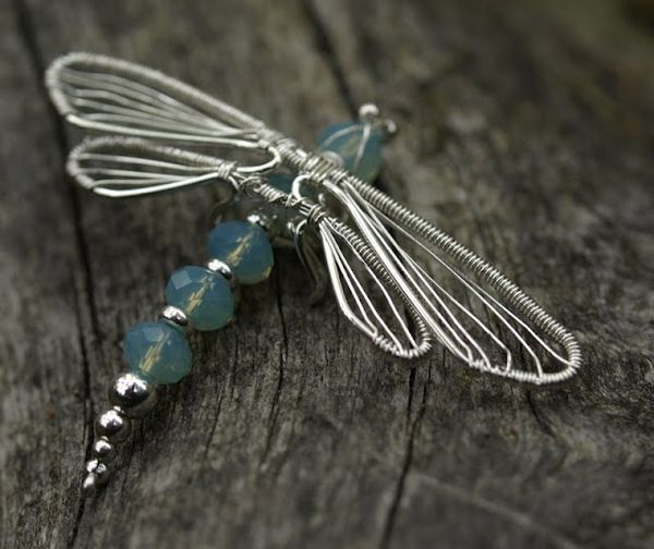 I'm thinking of using beads on the body of the wire dragonfly that I already make. (to add some bling)  Dragonfly wire wrap  #jewelry