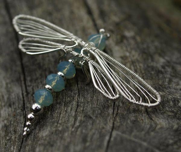 Dragonfly wire wrap #jewelry