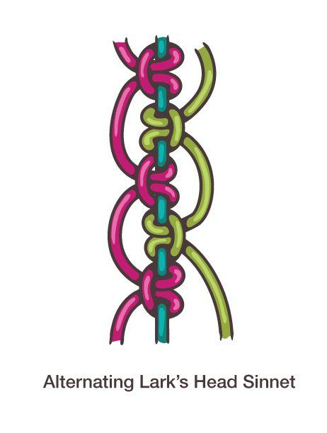 otro diseño de nudo para pulseras
