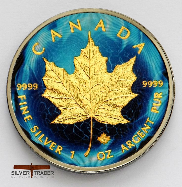 Canadian Maple Electric Motive Ruthenium plated gold gilded bullion coin has been beautifully made as a collectors piece and comes in a gift pouch.