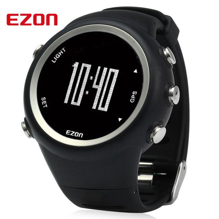 EZON T031 Men GPS Sport Watch Timing Running Pedometer Calorie Counter 50M Waterproof Speed Distance Calorie Counter Smart Watch //Price: $90.66      #sale