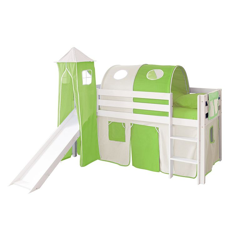 Spielbett Kasper II - Kiefer massiv - Beige/Grün - Basismodell, Ticaa Jetzt bestellen unter: https://moebel.ladendirekt.de/kinderzimmer/betten/hochbetten/?uid=21d248a8-e015-5fac-beef-b7a7211561a3&utm_source=pinterest&utm_medium=pin&utm_campaign=boards #möbel #kinderzimmer #hochbetten #teens #betten #ticaa #kids
