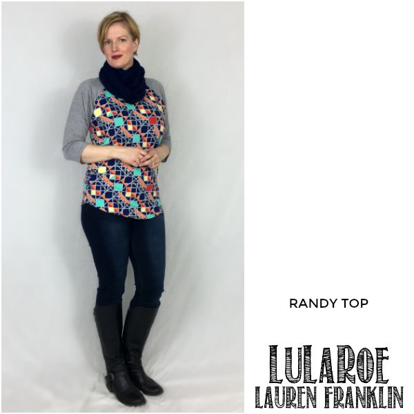 LuLaRoe Lauren Franklin featuring Kim Bongiorno in the LuLaRoe Randy top - plus 14 other outfits! | WAHM style