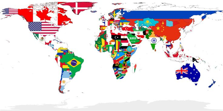 Map of the World by Flags