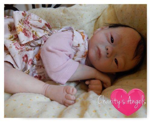 KAMEKO-Reborn-Baby-Girl-Doll-Asian-Ethnic-Biracial-Oriental-Newborn-AA-Awake-LR