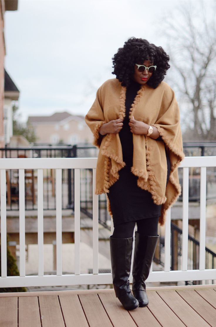 #Plussize fashion blogger: #wrap #cape . Absolutely perfect for a cold office.
