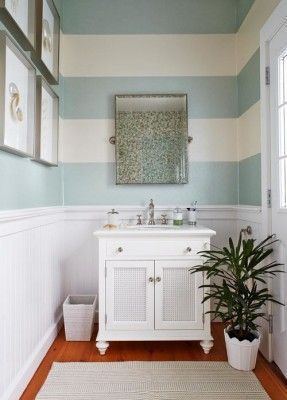 Horizontal stripes make a small room seem wider | 7 Interesting Ways To Paint Your Walls