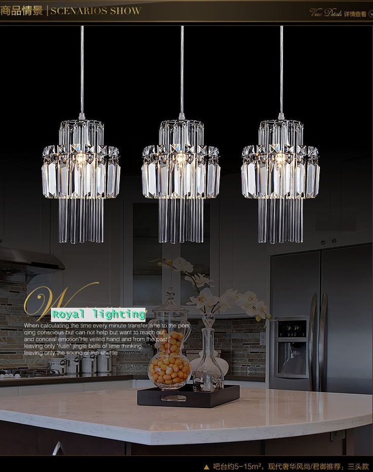 Small kitchens are big on cozy charm but can be difficult to keep them organized. Crystal Kitchen Pendant Lights   Crystal pendant lighting, Kitchen bar lights, Room hanging lights