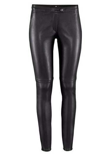 Black Low Rise High Shine Leather-Look Leggings #MYTRENDTWOWARDROBE
