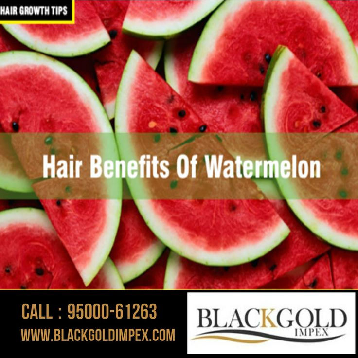 Tip of the day : Watermelon  Watermelon contains abundant amount of a phytonutrients called citrulline. These help increase the level of arginine in the body. Arginine is an amino acid that improves blood circulation in the scalp, thus promoting hair growth. Moreover, the Viagra effect of watermelons keeps the blood pumping to your scalp. This helps provide with the proteins and minerals that encourage hair growth.