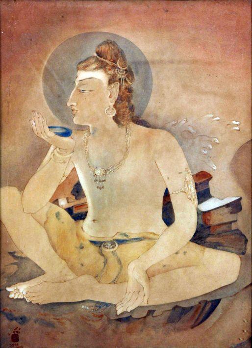 Nandalal Bose (1882-1966)SHIVA DRINKING THE WORLD'S POISON