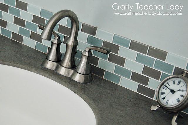 tile back splash from home depot decor ideas pinterest