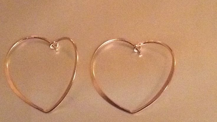 Beautiful silver rose gold plated hearts. Ellren jeweller.