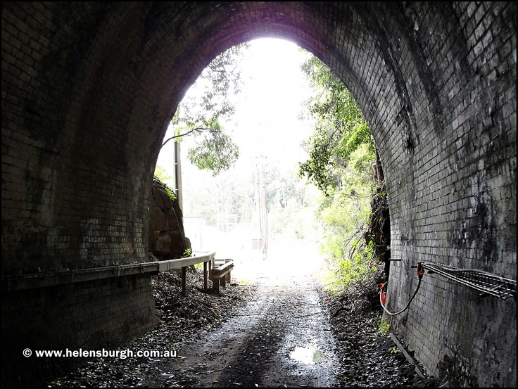 Just inside the southern portal of the Lilyvale Tunnel No. 2 (Tunnel No. 6).  http://www.helensburgh.com.au/lilyvale-railway-tunnels/