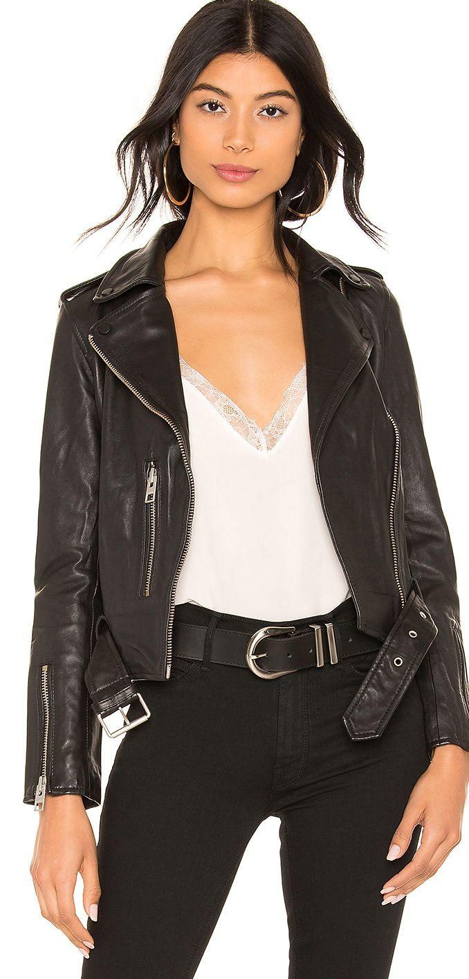 Women's Outerwear All saints leather jacket, Outerwear