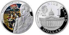 """NIUE: 1 $ plata 2010 Serie Lideres """" Mikhail Kutuzov"""""""