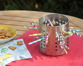 IKEA KINDER HACK / IKEA ORDNUNG Besteckständer / Sommer-Mikado aus Strohhalmen selber machen / DIY Outdoor Spiele für Kinder // Game Mikado for Kids build out of straws
